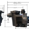 HKF Artesian 2 Pond Waterfall pump dimensions