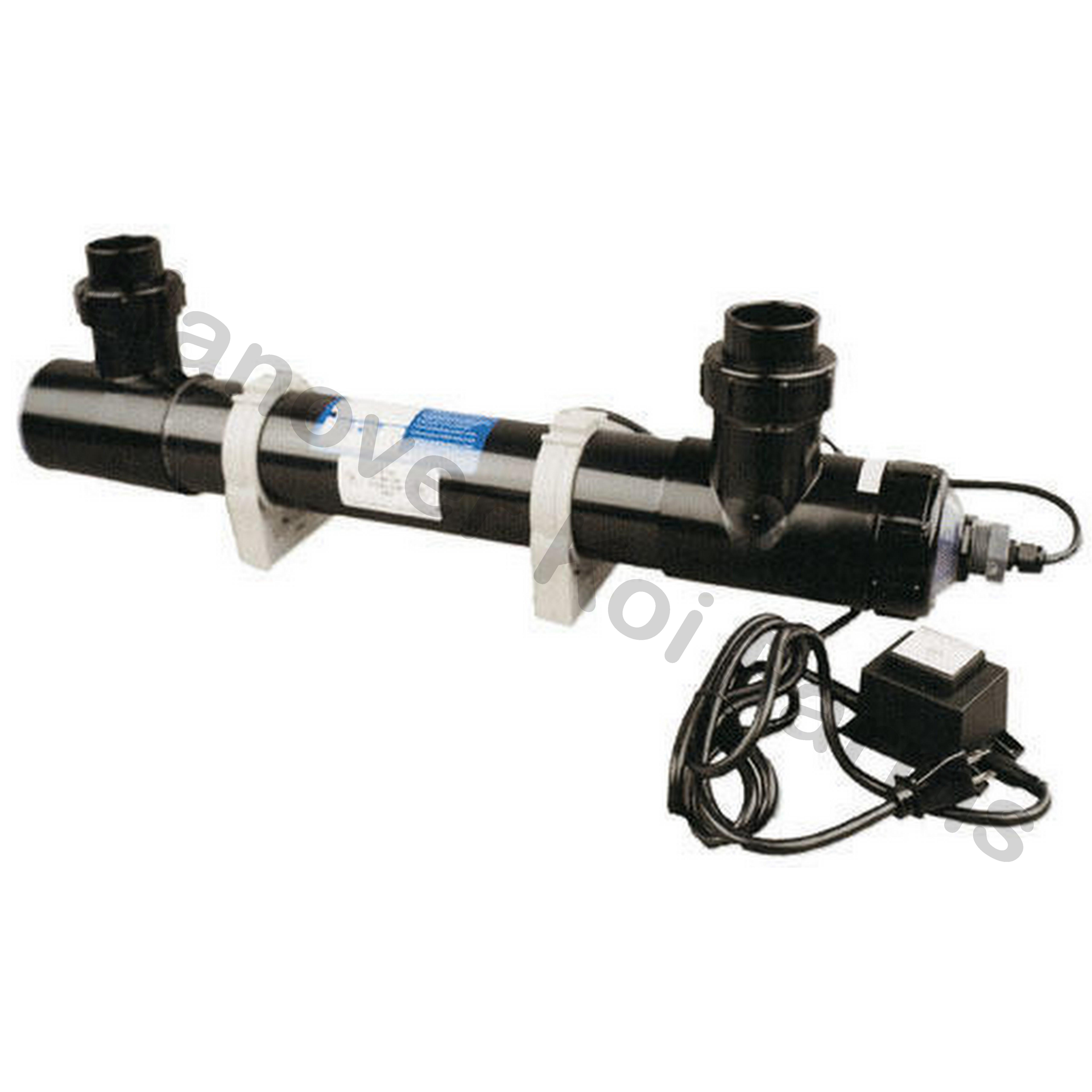 Pond uv light 25 watt emperor sterilizer series eu25 u for Uv light koi fish pond