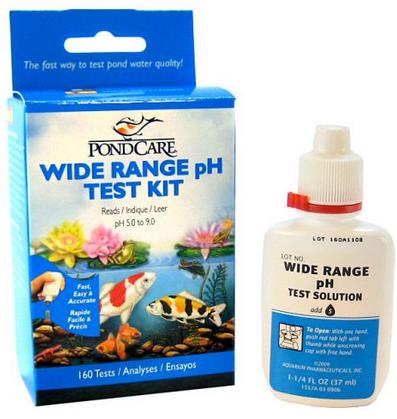 Wide range pH test kit API Hanover Koi farms