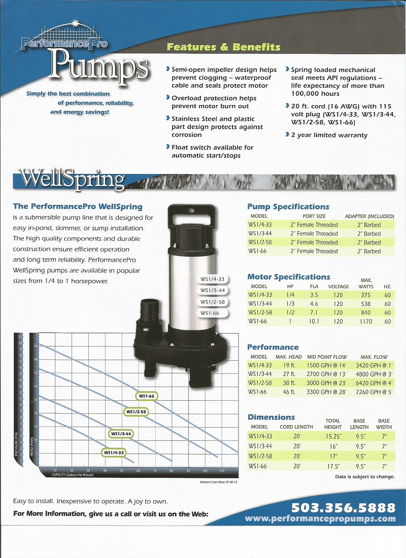 Submersible pond and waterfall pump 1 hp 7380 gph for Pond pump installation