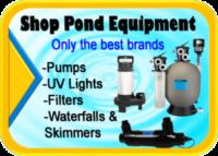 Pond supplies for sale Hanover Koi farms